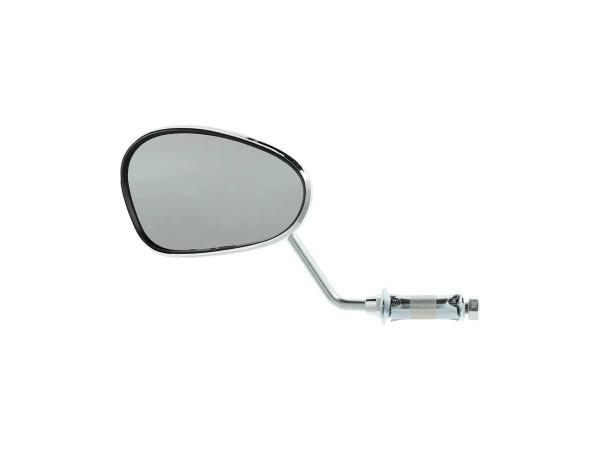 Mirror left, handlebar mounting, short bar