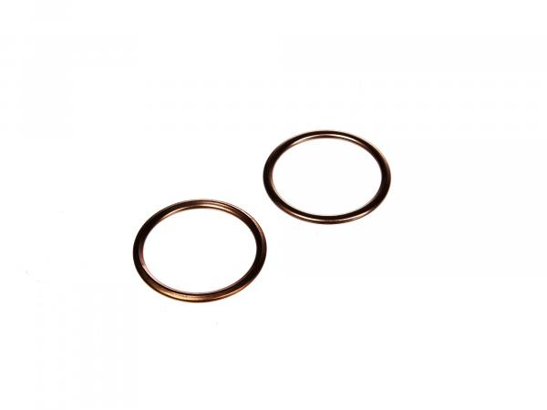 Set: 2 x elbow gasket 28 x 34 copper - Simson S50, S51, KR51 Schwalbe, SR50, etc.