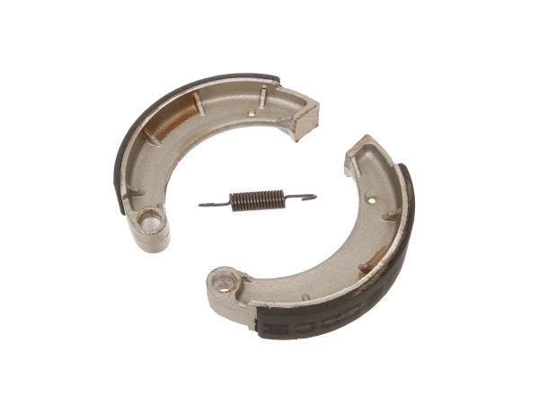 Set: Bremsbacken - 2 Stück mit Feder, für Ø150 mm (1. Qualität) - für MZ ES, ETZ, TS, RT
