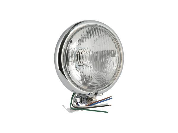 Chrome headlight H4, universal