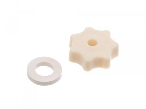 Star knob nut with thrust washer ivory KR51/1, KR51/2, SR50, SR4-2, SR4-4