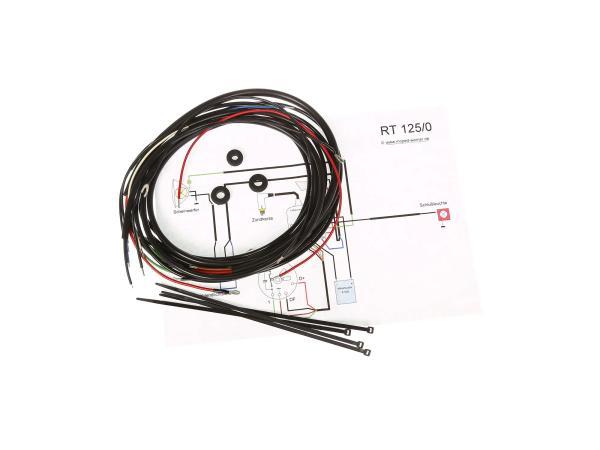 Kabelbaumset mit Schaltplan, für Baureihe mit Ladekontrollleuchte - MZ RT125/0