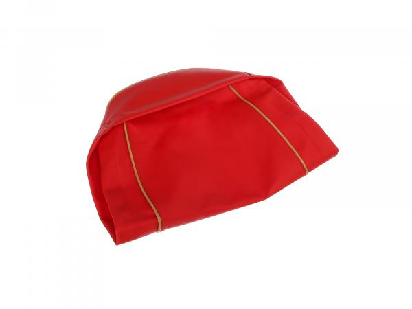 seat cover smooth, red, old form - for MZ ES125, ES150