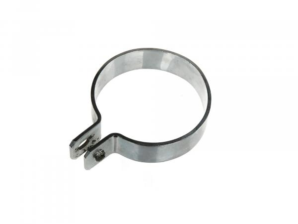 Exhaust clamp chrome plated