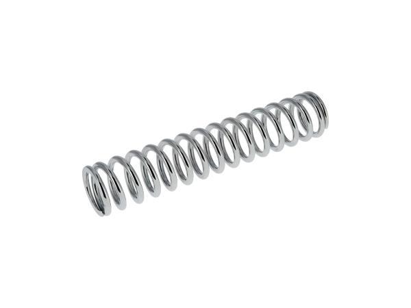 Pressure spring, chrome plated f. strut (Ø 7,3 - 283 mm long -15,5 turns) - ETZ251, ETZ301