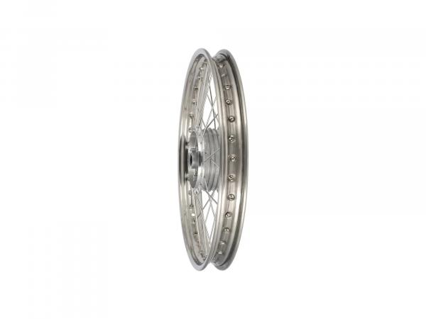 "Spoked wheel 1.6 x 19"" front, stainless steel rim + stainless steel spokes - Simson S53, S83"