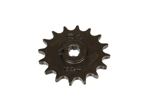 10000476 Ritzel, kleines Kettenrad, 16 Zahn - für Simson S50, KR51/1 Schwalbe, SR4-2 Star, SR4-3 Sperber, SR4-4 Habicht - Bild 1