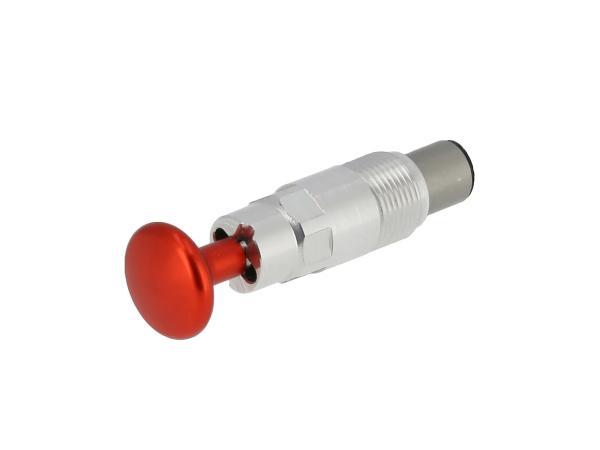 10070835 Starterkolben Tuning, mit Arretierung, Kopf Rot eloxiert - Bild 1