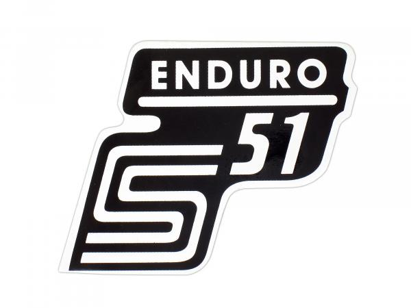 Adhesive foil side cover -Enduro- white, S51