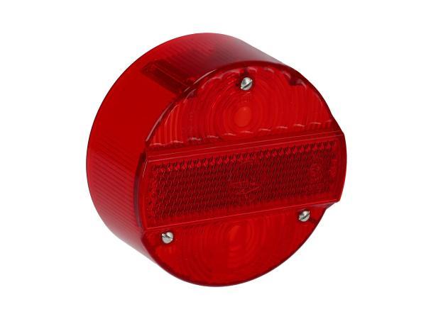 Rücklichtkappe rund, rot, Ø120mm ohne KZB - Simson S50, S51, S70, S53, S83, KR51/2 Schwalbe, SR50, SR80