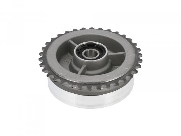 Chain wheel driver, 34 Z with ball bearing (closed on both sides) 6203 C3 2Z - Simson S50, S51, KR51 Schwalbe, SR4, Duo
