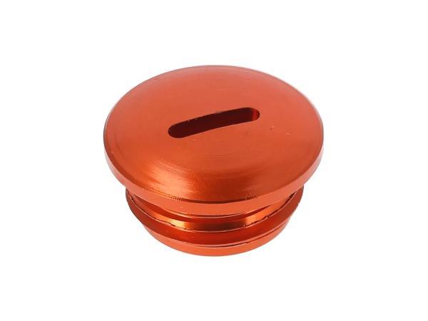 Verschlussschraube, Aluminium Orange eloxiert (Kupplungseinstellung), ohne O-Ring