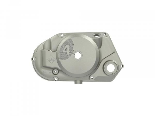 "Clutch cover ""4"" with DZM, silver metallic painted"