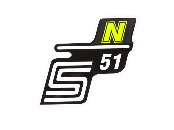 """Klebeschriftzug - """"S51 N"""" Neongelb"""