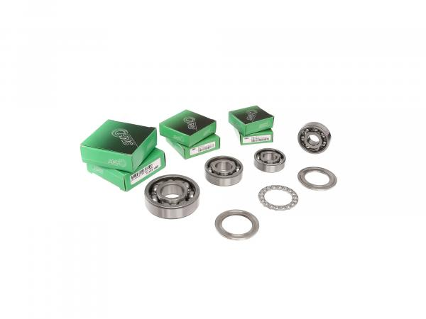 Set: Ball bearing motor + gearbox, 8 parts - MZ ES175/1, ES250/1, ES300