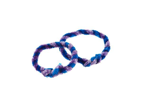 Nabenputzringe Blau/Lila (Set 1x 25cm + 1x 30cm für Fahrrad)