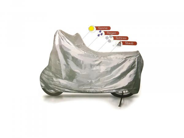 Tarpaulin for motorcycle - tarpaulin ES, TS, ETZ (with fastening strap)
