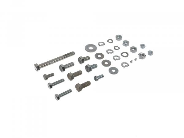 Set: Hexagonal bolts for frame/upper belt/supports/undercut struts/seat/seat bench/tank S50, S51, S70