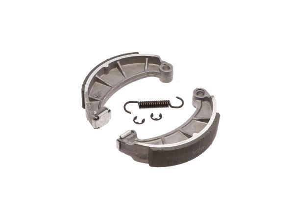 Set: Bremsbacken mit Sprengringen, Feder und auswechselbarer Zwischenlage