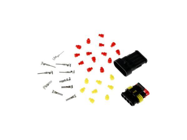 Set: Leitungsschnellverbinder 4-Polig, wasserdicht
