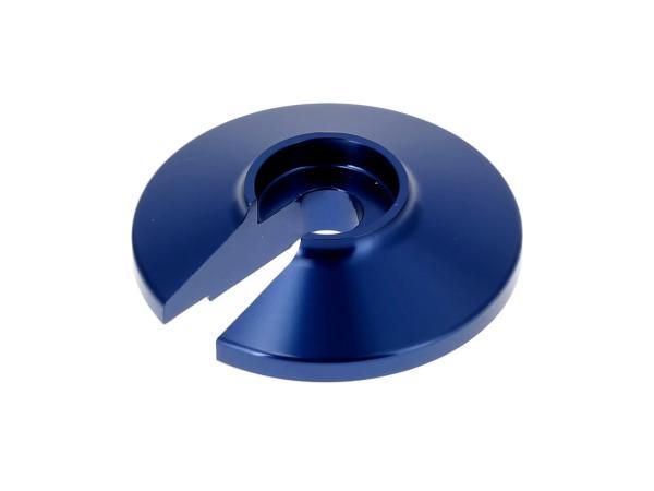 Steckscheibe Alu  - Farbe Blau - für Enduro-Federbein Simson S51 Enduro