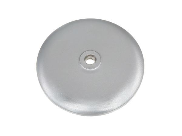 Front wheel hub cover, aluminium, silver