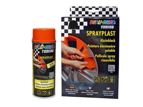 Set: Dupli-Color Sprayplast Abziehlack, orange, glänzend - 2x 400ml