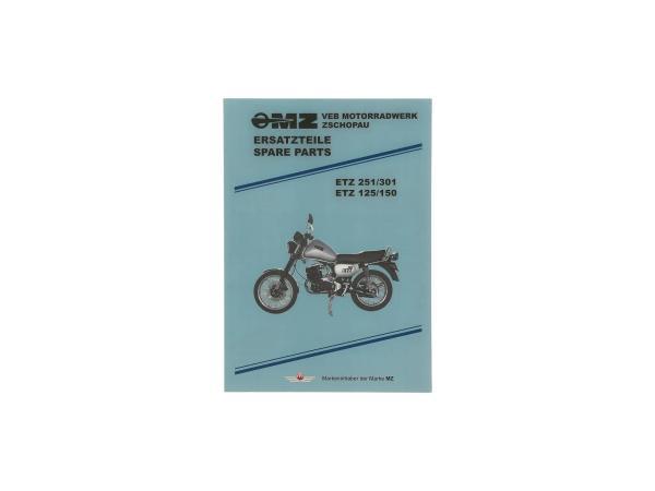 10021083 Ersatzteilkatalog - für MZ ETZ125, ETZ150, ETZ251, ETZ301 - Bild 1