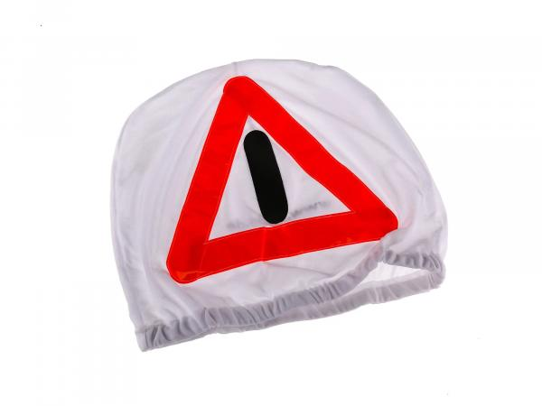 Warning triangle for integral helmet