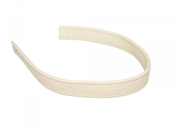 Holding strap for bench ivory with decorative seam in ivory - Handmade