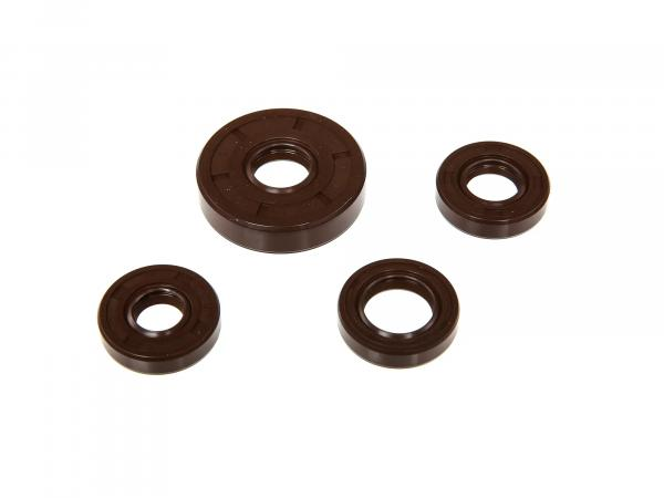 Set: Oil seals motor cpl, brown - Simson KR50 (Soemtron-Motor)