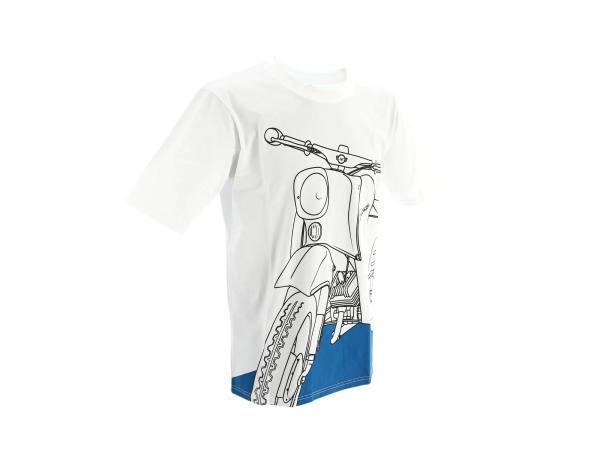 """K10000144 T-Shirt """"Schwalbe Olympiablau"""" - Weiß - Bild 1"""