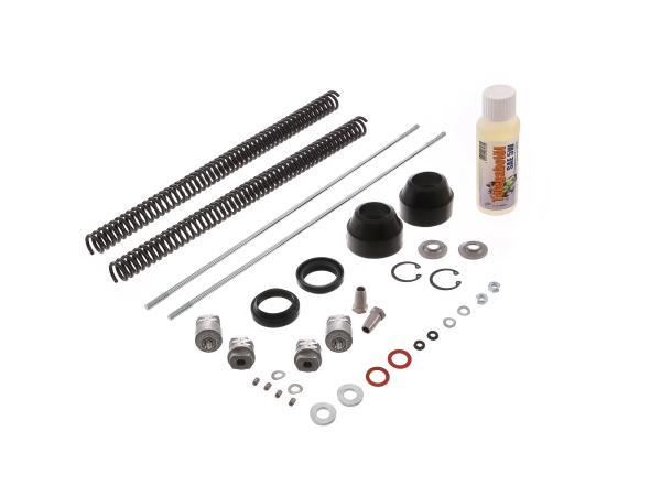 10066890 Set: Telegabel Reparatur komplett, verstärkte Druckfeder 3,4mm - für Simson S50, S51, S53, S70, S83 - Bild 1