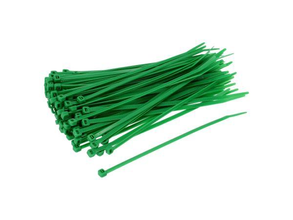 10069650 Set: 100x Kabelbinder 4,6 x 200mm grün - Bild 1