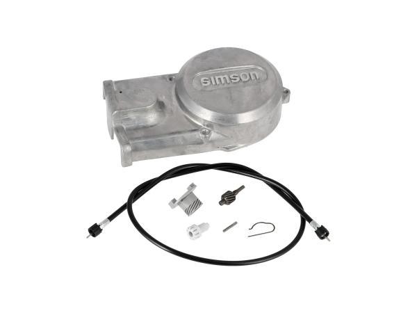 Set: Lichtmaschinendeckel + Tachoantriebsset + Tachowelle - für Simson S51, S70, S53, S83