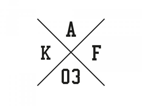 "Sticker - ""Kreuz AKF 03"" foil plot black, with transfer foil"