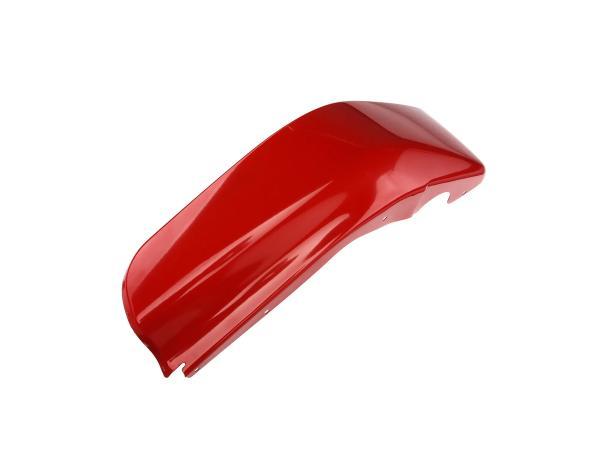 Knee plate left, zinc plated, traffic red powder coated - Simson SR50, SR80