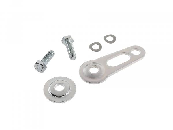 Set: Holder and disc for speedometer - chrome plated