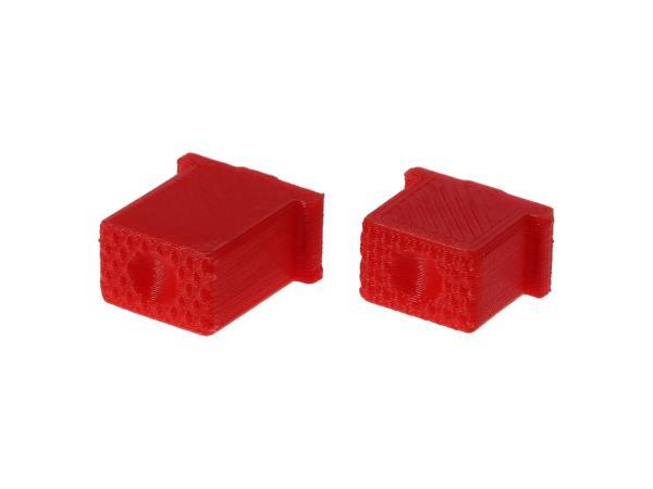 10069583 Set: Knopf für Hupe & Lichthupe 3D, Rot, Doppeltaster - für S51, S70, SR50, SR80 - MZ ETZ - Bild 1