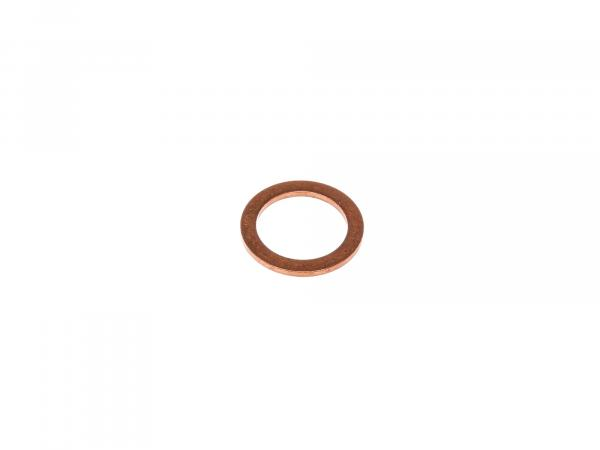 Sealing ring Ø 14x18 DIN 7603 made of copper, for oil drain plug - for Simson S51, S53, S70, S83, KR51/2, SR50, SR80, AWO