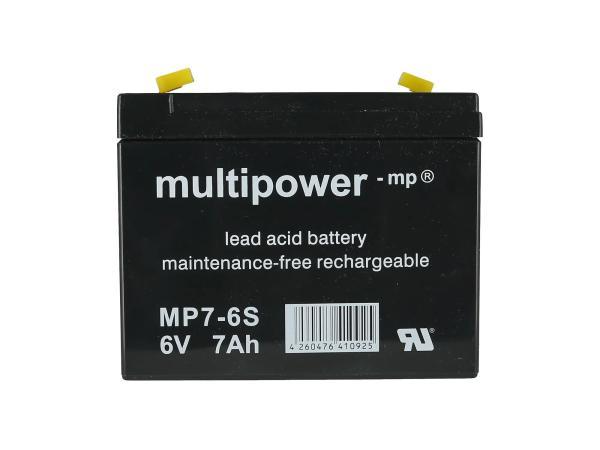 GP10000569 Batterie 6V 7Ah (Gelbatterie) - Bild 1