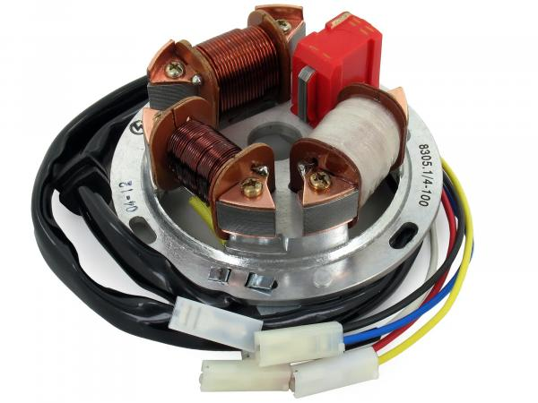 Base plate 8305.1/4-100, 6V electronics (35/21W Bilux) - Simson S51, S70