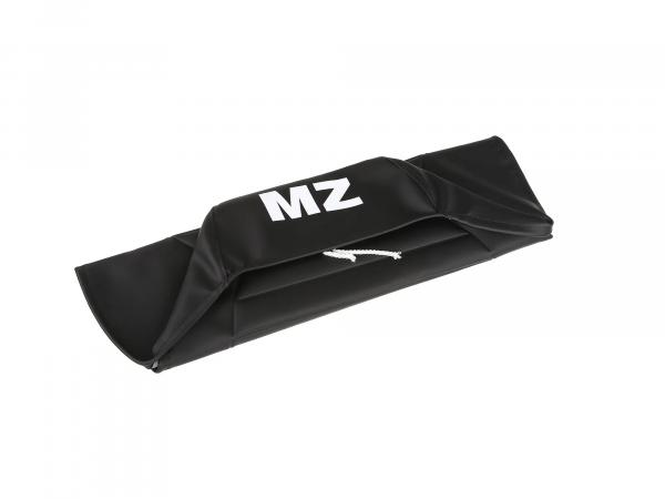 Seat cover structured, black with MZ lettering - for MZ ETZ125, ETZ150, ETZ251, ETZ301
