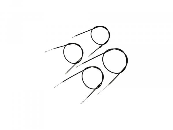 10066121 Bowdenzug-Set in Schwarz - für Simson S51, S70, S53, S83 Enduro - Bild 1