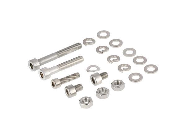 10001248 Set: Zylinderschrauben, Innensechskant in Edelstahl für Auspuffanlage, Krümmer S50, S51, S53, S70, S83 - Bild 1