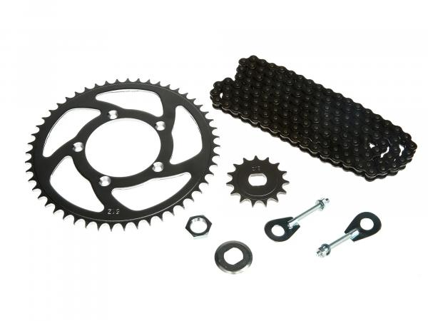 Small sprocket drive set (chain set) Mofa 25km/h (throttled) - for Simson S53M