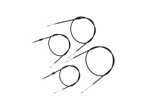 10070050 Bowdenzug-Set in Schwarz, Enduro + 25mm Überlänge - Simson S51, S70, S53, S83 - Bild 1