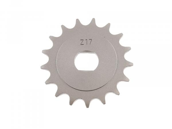 sprocket, small sprocket, 17 tooth - for Simson S51, S70, S53, S83, KR51/2 Schwalbe, SR50, SR80