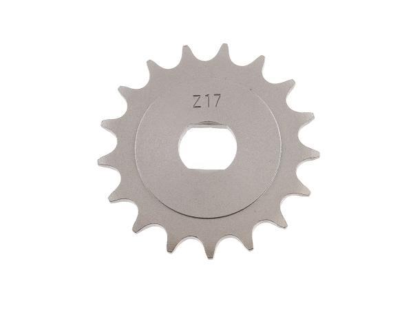 10000486 Ritzel, kleines Kettenrad, 17 Zahn - für Simson S51, S70, S53, S83, KR51/2 Schwalbe, SR50, SR80 - Bild 1