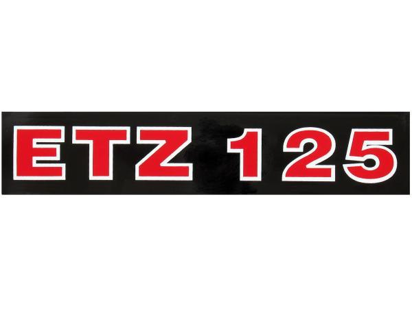 10056049 Schriftzug (Folie) ETZ125 Schwarz mit roter Schrift (für Telegabel) - Bild 1